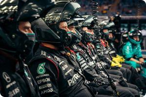 Mercedes team