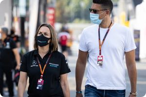 Claire Williams, Marc Harris (husband)
