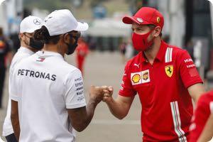 Lewis Hamilton. Sebastian Vettel