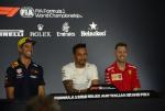 Daniel Ricciardo, Lewis Hamilton, Sebastian Vettel