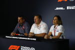 Gunther Steiner, Zak Brown, Claire Williams