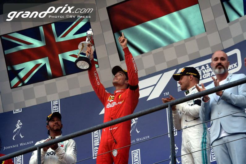 Leclerc claims bittersweet first F1 win in Belgium