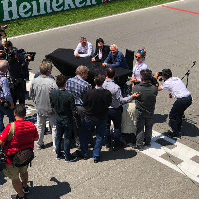 Villeneuve finish line conference