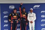 Max Verstappen, Daniel Ricciardo, Lewis Hamilton