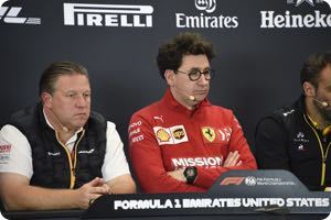 Zak Brown. Mattia Binotto